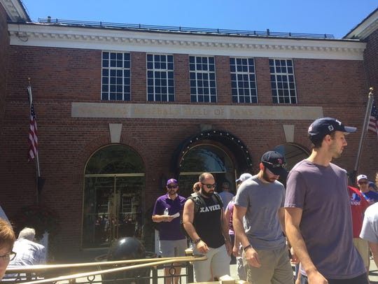 A look at the museum as we enter the Baseball Hall