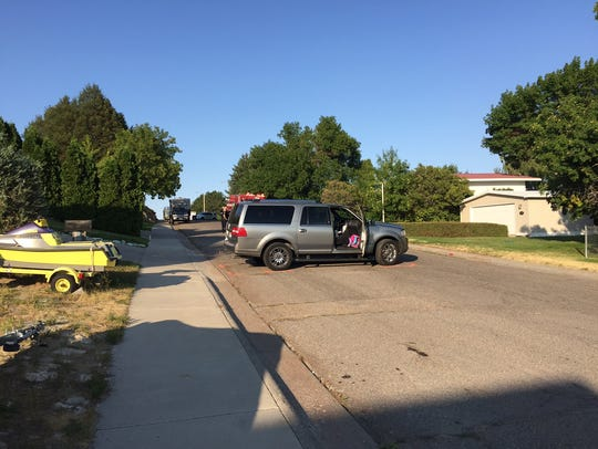 This vehicle was involved in a collision on Valley