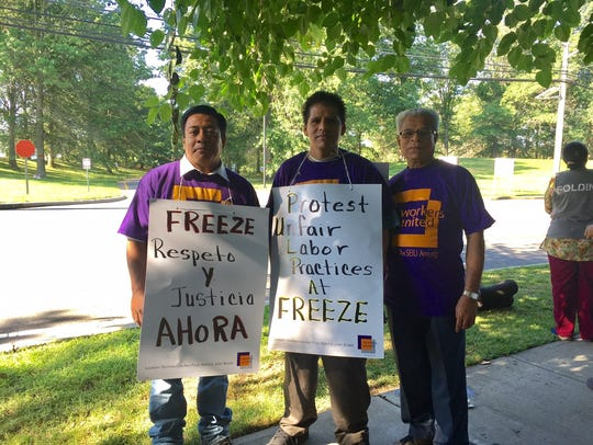 Union warehouse employees at Freeze in South Brunswick