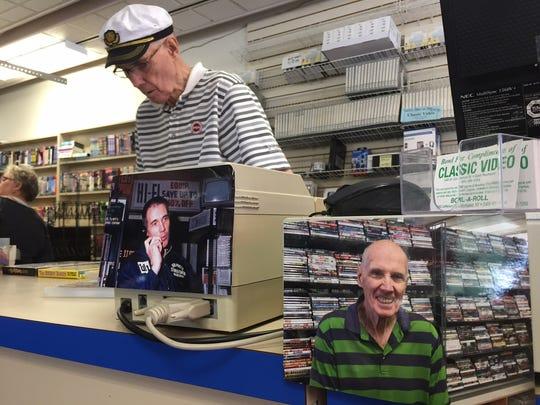 Bob Hyatt works the counter at Hyatt's Classic Video.