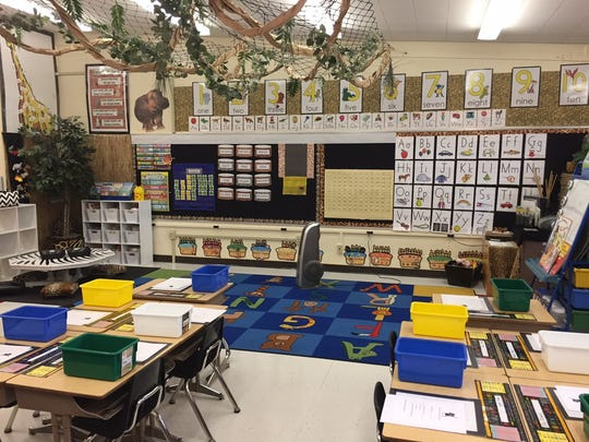 Jill Christensen's room design stemmed from the zoophonics lessons she uses to teach her Kindergarten students the alphabet.