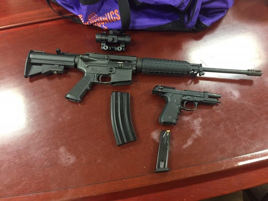 Weapons seized by Plainfield police during the execution of search warrant.