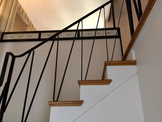 The original stair railing from 1952.