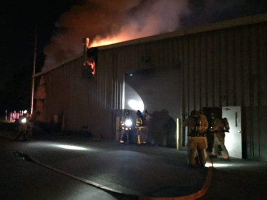 An early morning fire at the Newark City Schools bus garage caused the district to cancel school Thursday. The fire impacted the transportation department's ability to communicate, according to district officials.