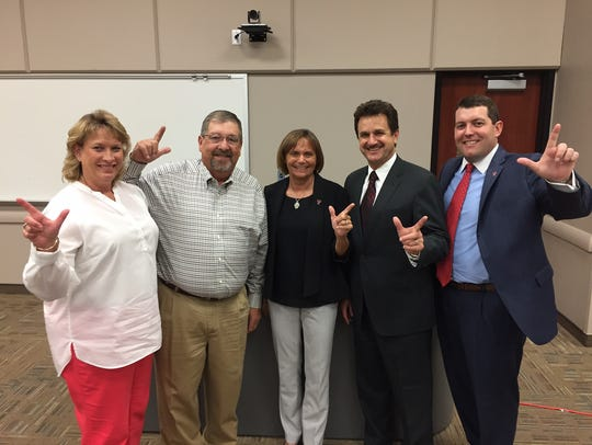 Texas Tech President Dr. Lawrence Schovanec, Patty