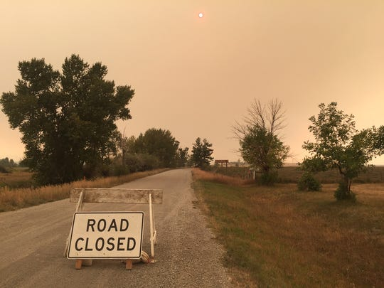 Roads leading west out of Dupuyer, including Swift Dam Road, are closed because of the Strawberry Fire, which has reached Swift Dam.