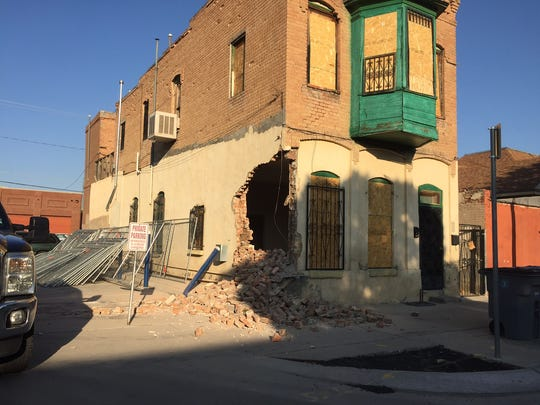 A Duranguito building was badly damaged by a demolition