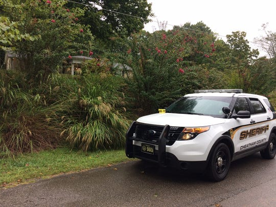 The Cheatham County Sheriff's Office is on the scene of apparent homicide at a Joelton residence on Wednesday, Sept. 13, 2017.
