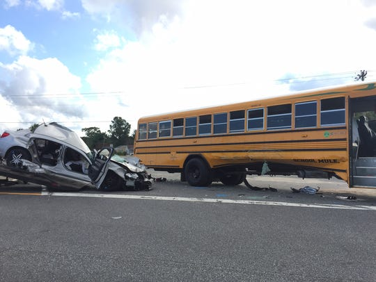 A Cape Henlopen School District bus was involved in