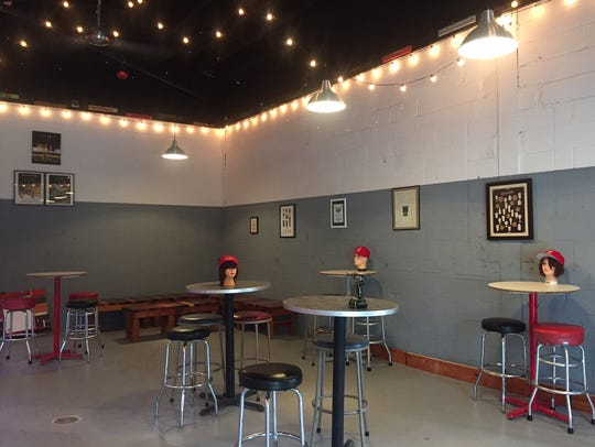 The Lunacy tasting room offers a variety of seating