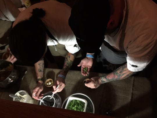 Sean Brock, Jon Buck and the Husk team at euphoria's