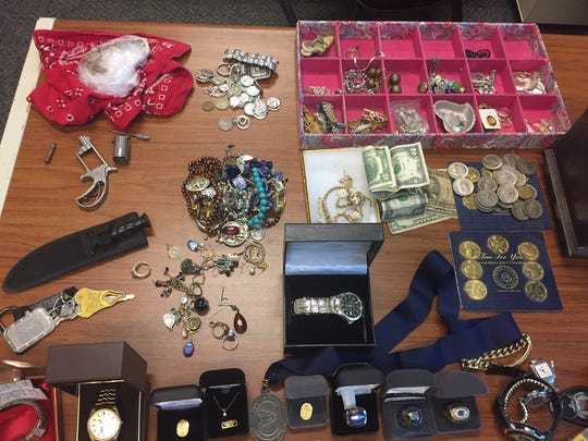 Jewelry, jewelry boxes and other personal items Clinton police say they seized at John Murrayi's residence.