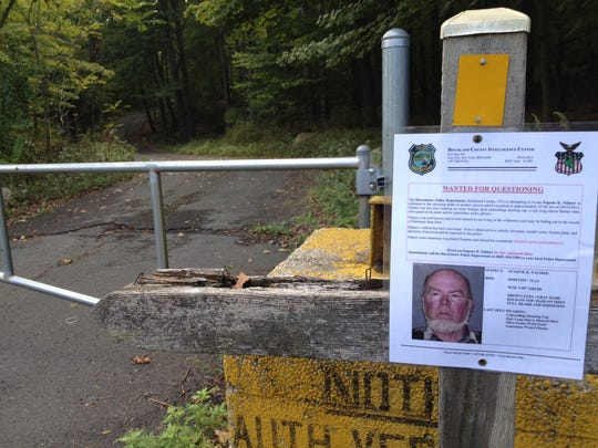 Police have wanted posters for Eugene Palmer in Harriman State Park.