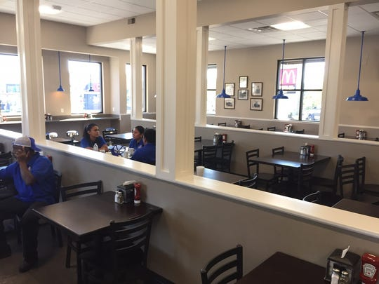 The dining room at the new location of the Carolina