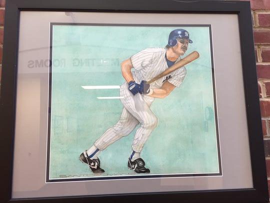New York Yankee Don Mattingly by Santo Romano.