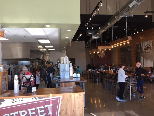 The interior of Maple Street Biscuit Company in Five
