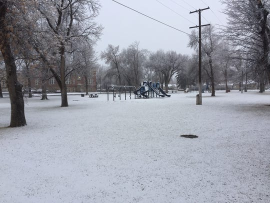 Winter arrived in Great Falls Tuesday and Wednesday.