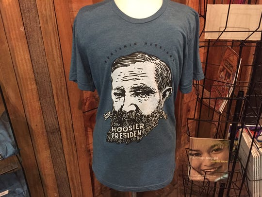 Benjamin Harrison T-shirt. Note that Harrison's head