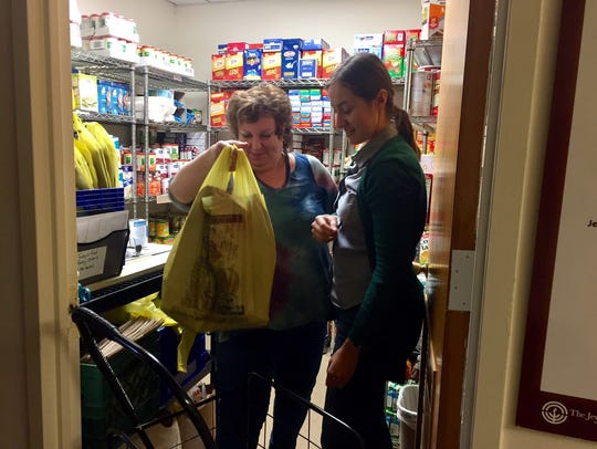 A food pantry at Jewish Family Services of Middlesex