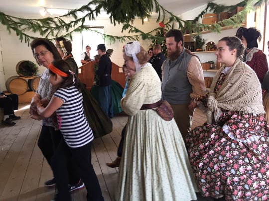 """Dancers at the Officers Ball at """"Winter on the Home Front: A Civil War Christmas"""" at Historic Speedwell in Morristown."""