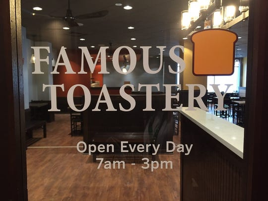 Llillia Callum-Penso Greenville's Famous Toastery will open in July, offering breakfast, brunch and lunch every day. Greenville's Famous Toastery will open in July, offering breakfast, brunch and lunch every day.