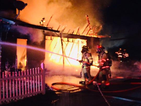 Newark, Heath, Granville, and Newark Township fire