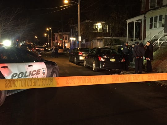 Wilmington police investigate a shooting at Vandever Avenue and North Locust Street on Saturday, Dec. 16, 2017.