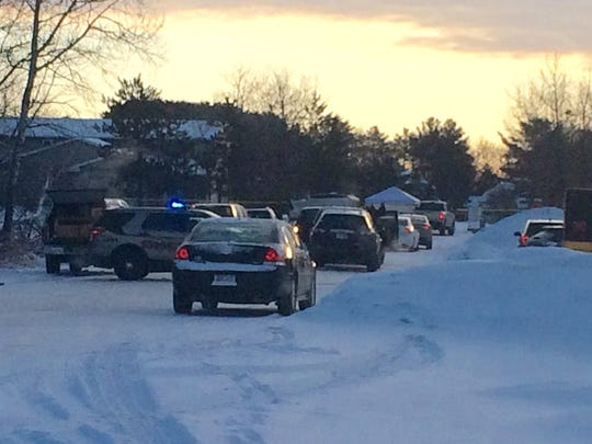 Police are stationed at the scene of a Rib Mountain shooting involving a Marathon County Sheriff's deputy March 2.