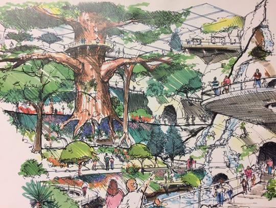 The Crystal Forest conservatory was once planned to