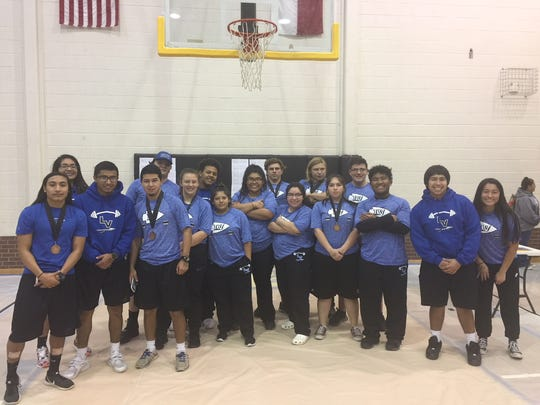 Lake View High School's powerlifting team competed at Big Spring recently.