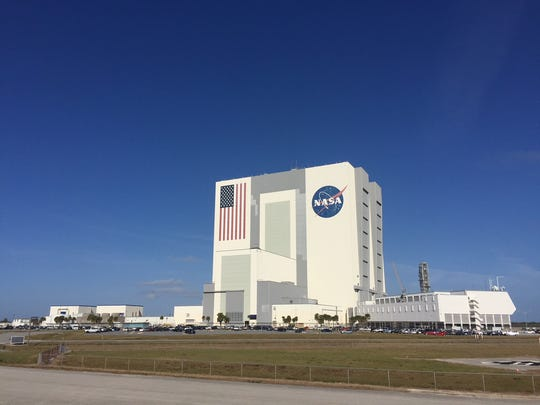 The Vehicle Assembly Building and Launch Control Center at Kennedy Space Center. The center is closing and furloughed civil servants will be going home by noon today because of the federal government shutdown.