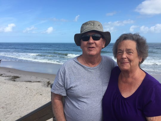 Tom and Carol Miller of Port St. John on Monday visited