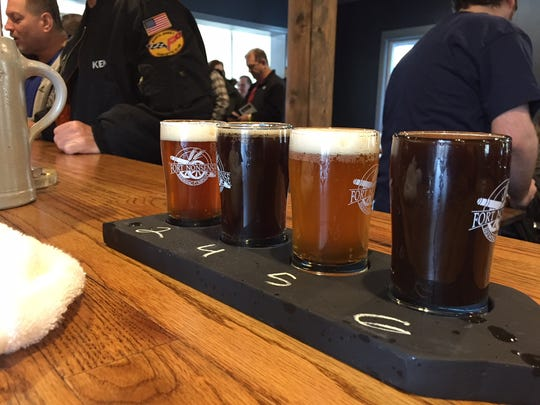 Beer flights were extremely popular at the Fort Nonsense Brewing Company's Grand Opening.