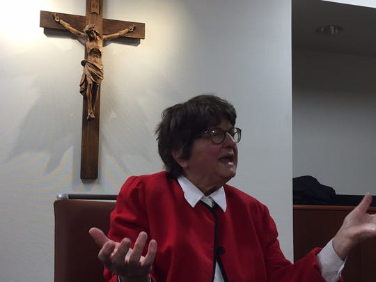 Sister Helen Prejean discusses her opposition to the death penalty at the Archdiocese of Cincinnati