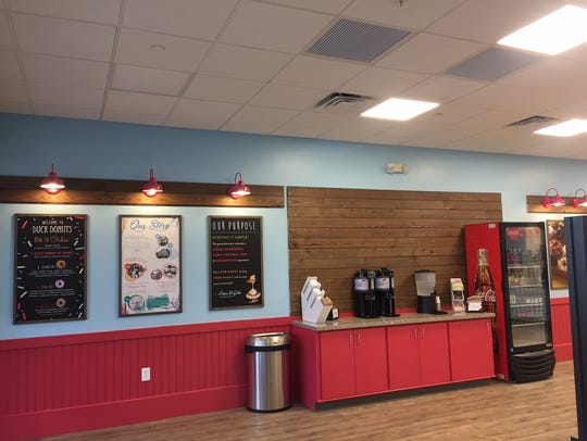 The interior of Duck Donuts in Marlton. The national