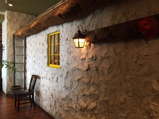 The traditional thatched roof Irish cottage at Thatcher