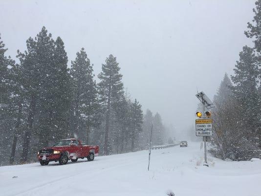 Reno snow, mount rose highway
