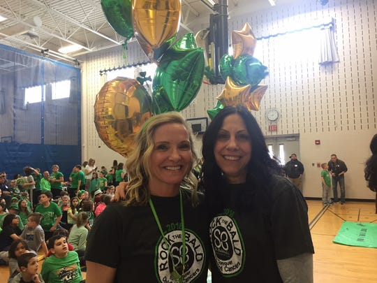 St. Baldrick's Day event coordinators Jennifer Perhacs