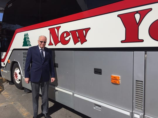 Jack Barker, vice president of operations at New York Trailways, outside the Rochester bus terminal.