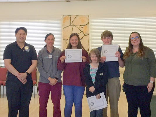 rotary essay-winners