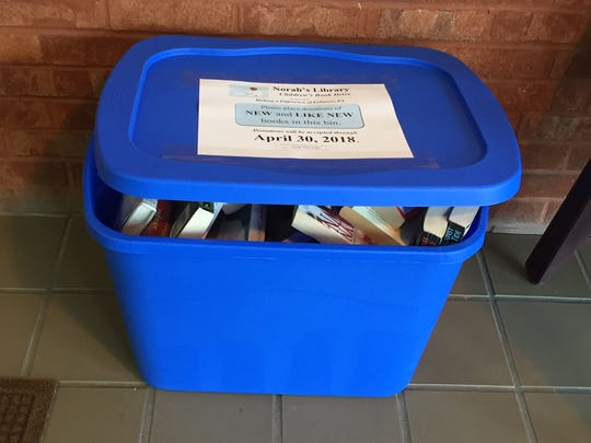 A Norah's Library drop-off at Lebanon Community Library