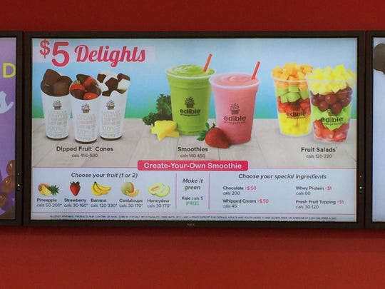 Smoothies are already front and center on the menu