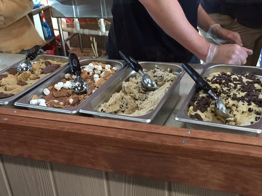 Dough & Shake features four varieties of cookie dough to choose from.