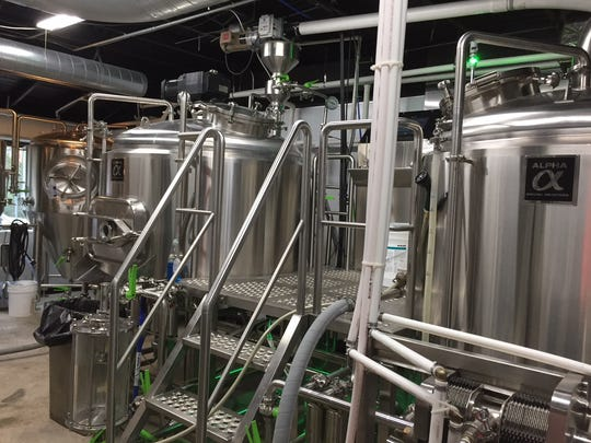A peek inside Rotunda Brewing Company, where a new seven-barrel brewing system was recently installed.