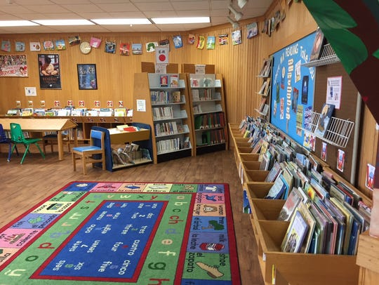 The children's department at Lebanon Community Library