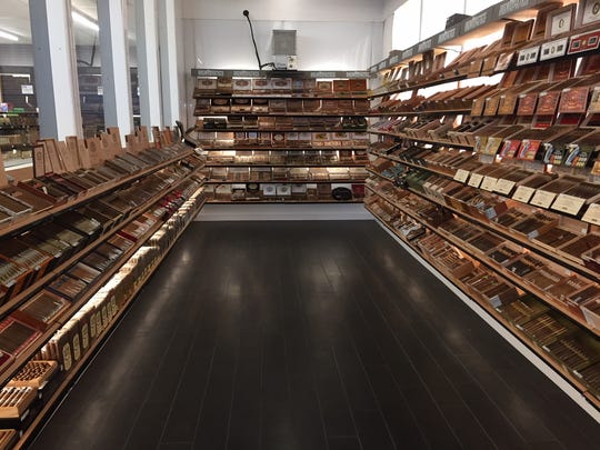 The walk-in humidor at 7 Cuz Beer Store is 300 square feet, with the potential to expand.