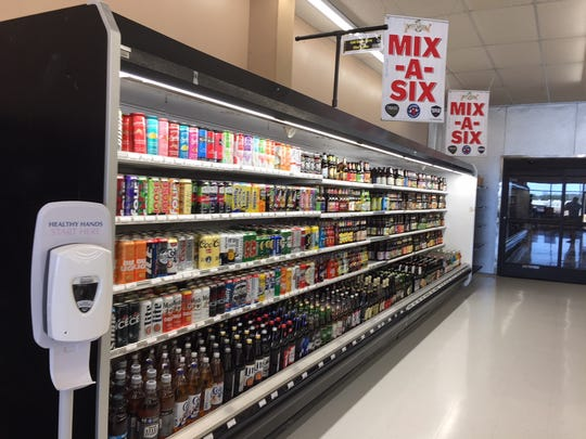 The mix-a-six section 7 Cuz Beer Store is 24 feet and length and features some of the hottest craft brews in the market.