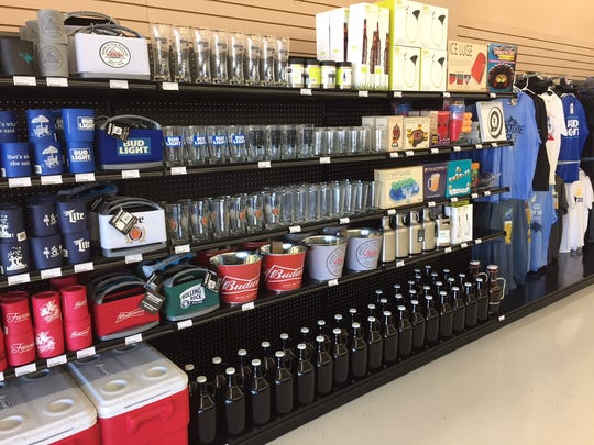 7 Cuz Beer Store seels anything and everything related to beer, from apparel to glassware to coolers, even kegerators.