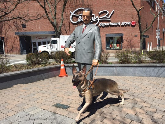 Seeing Eye founder Morris Frank with his dog Buddy,
