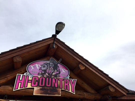 The Hi Country Snack Foods, Inc. logo is on the trading post store in Lincoln.